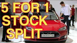 Tesla 5 for 1 Stock Split Explained Easy