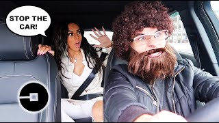 WORST UBER DRIVER PRANK ON WIFE! (GONE TOO FAR)