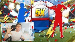 OPENING 5X GUARANTEED FUT BIRTHDAY PACKS!! - FIFA 17 LOYAL LADS SBC PACK OPENING