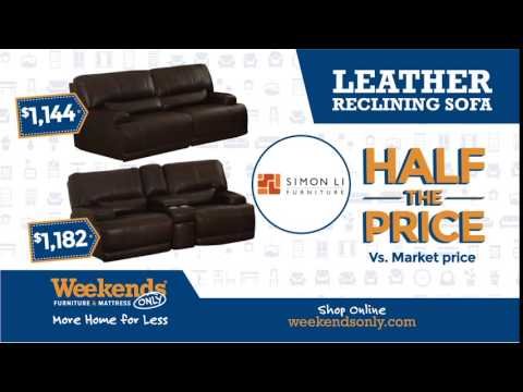 Just Arrived: Simon Li Leather Reclining Set