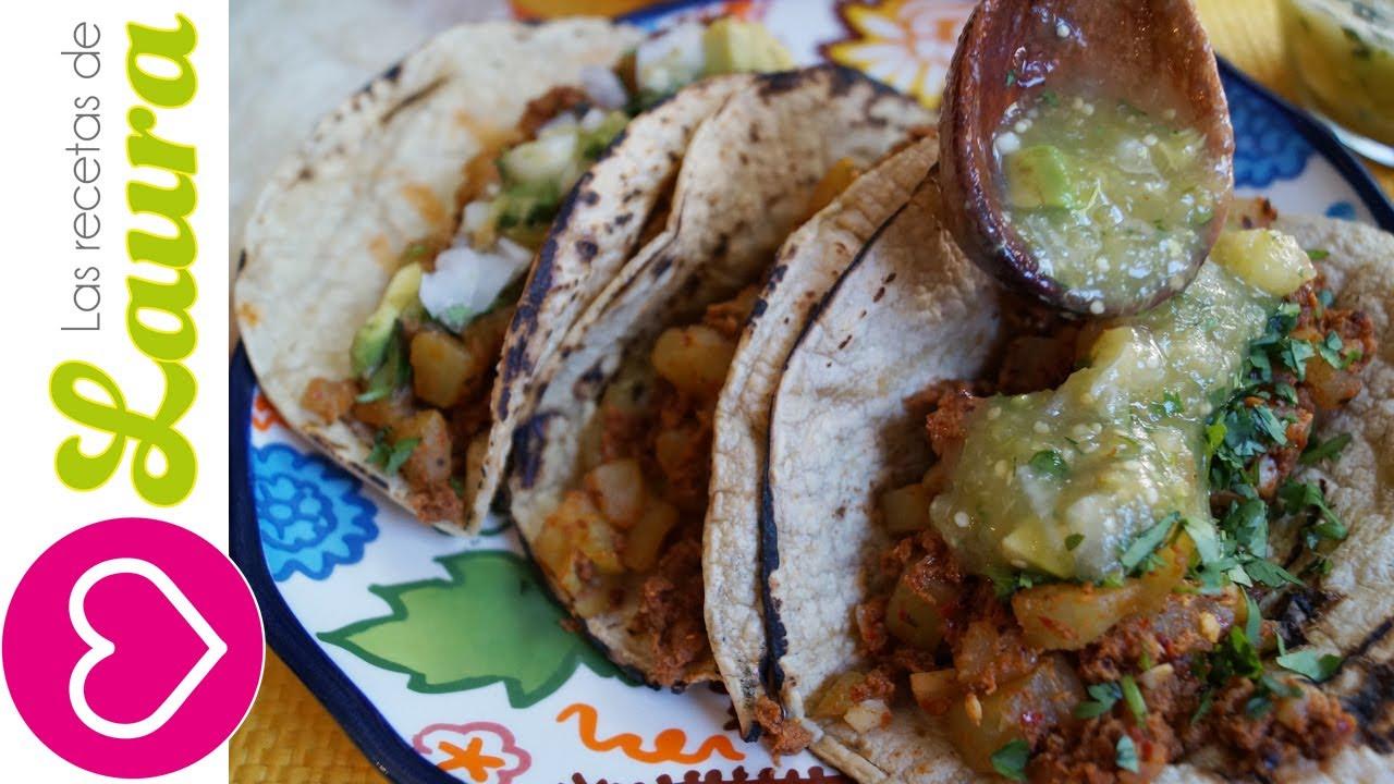 Como hacer tacos de chorizo how to make chorizo tacos - Comida sana y facil para adelgazar ...