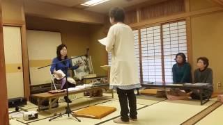 福島県の民謡です。中に詩吟が入っています.