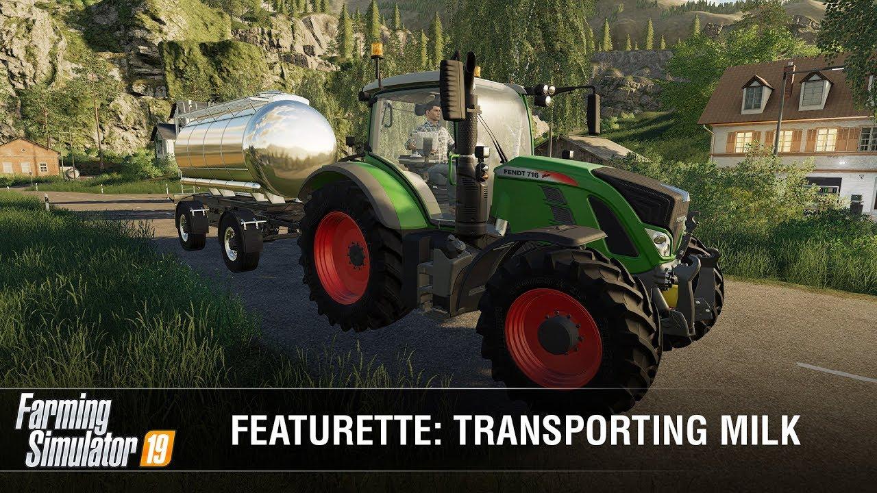 Farming Simulator 19: How to Transport Milk? (VIDEO