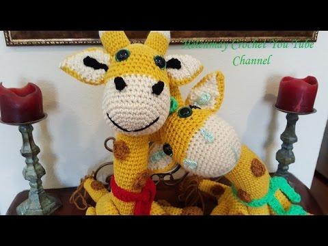 Tutorial Giraffe Amigurumi : Crochet Amigurumi Giraffe Part 1 of 2 DIY Tutorial - YouTube