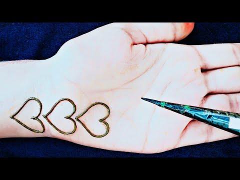 Latest Attractive jewellry heart mehndi designs || easy mehndi designs || heart henna designs thumbnail