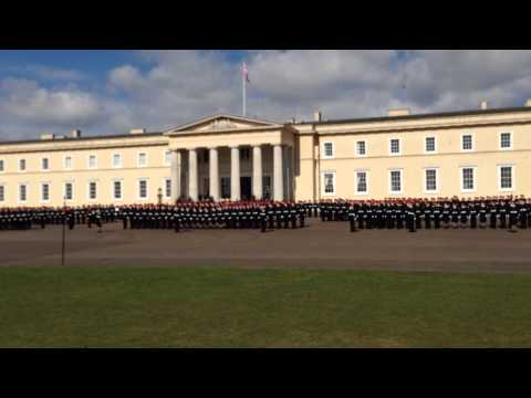 Lining up! - RMA Sandhurst - April 2014 - Rehearsal for the Sovereign