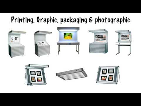 Color Viewing Booth with D50 Lights for Printing -Vteke