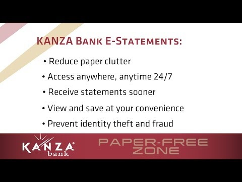 How To Sign Up For E-Statements At KANZA Bank