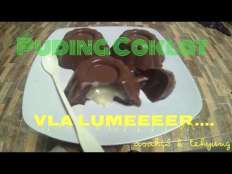 Resep Puding Coklat Isi Vla Lumeeer # How to Make Chocolat Pudding vla