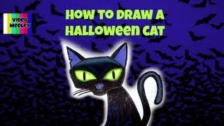 How To Draw A Halloween Cat