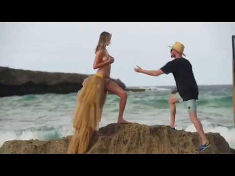 Whoops! Things got a little rocky on SISwim 2018 shoot in Aruba!