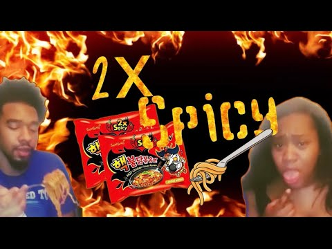 2x Spicy Noodles Challenge Mukbang (Reaction Video)🌶🥵