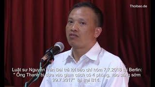 Luật sư Nguyễn Văn Đài tố cáo hình ảnh Trịnh Xuân Thanh