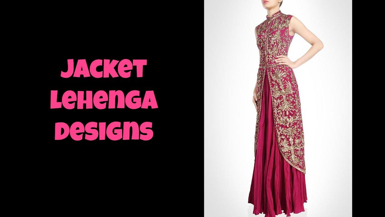 f70ae1be6f Jacket Lehenga Designs - YouTube
