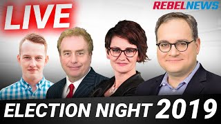 Election night LIVE! Ezra Levant & Rebel News team (9pm ET)