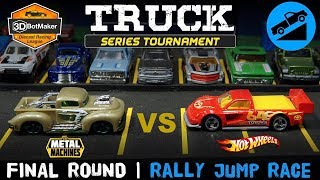 Final Round | Rally Jump Race | Truck Series Tournament Hot Wheels Diecast Racing