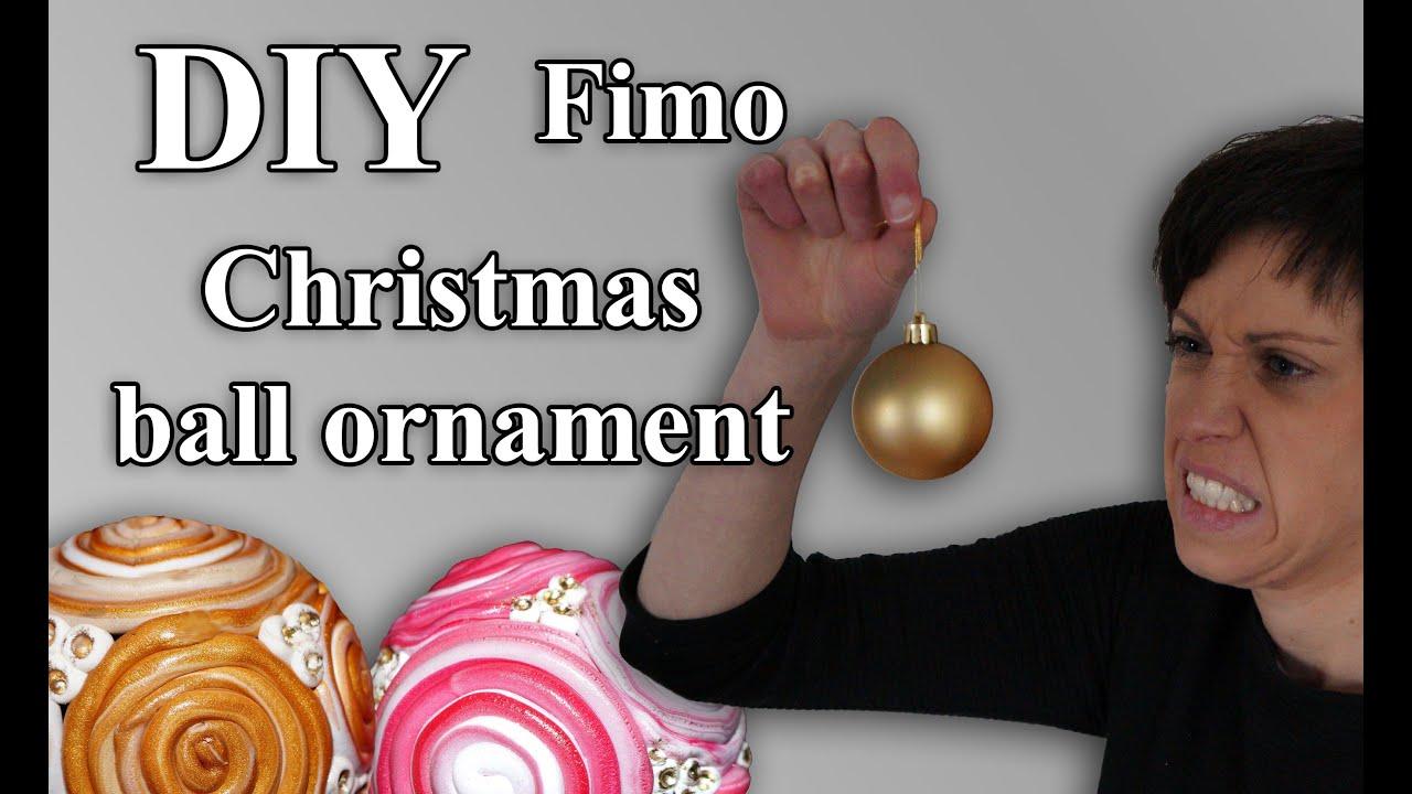 Christbaumkugeln Ornament.Fimo Christbaumkugeln Polymer Christmas Ball Ornament Tutorial Hd De En Sub