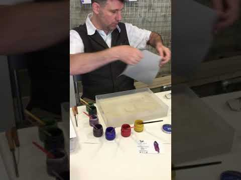 How to do Paper Marbling preparation by James Mouland Ebru Studio