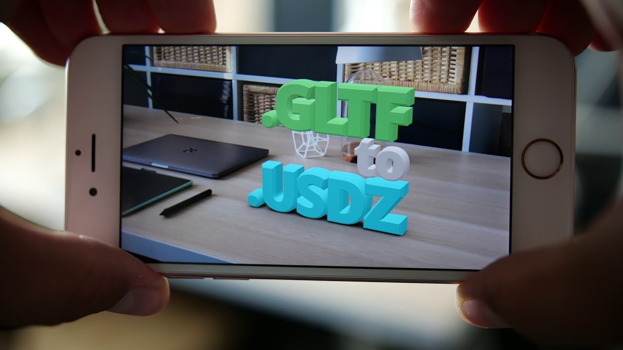 How to convert GLTF to USDZ | Vectary online USDZ converter