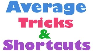 Average Aptitude Trick: Fastest way to Calculate Average - Hindi(2015)