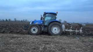 Aratura 2013 New Holland T6040+Er.Mo, John Deere 6620+Scalmana
