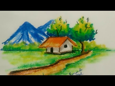 Landscape for children, with colors, in a very easy way