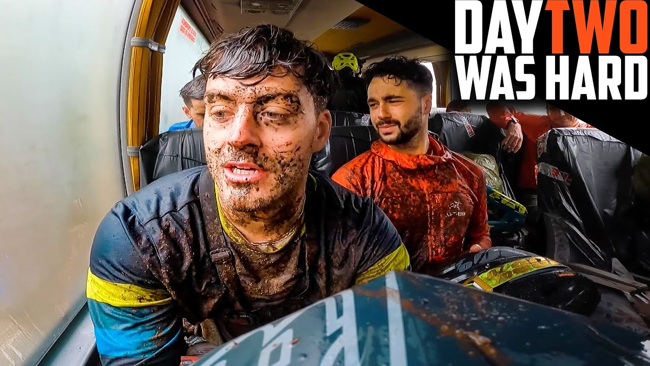 RACING AND CRASHING ENDURO IN THE RAIN!! TRANS MADEIRA DAY 2
