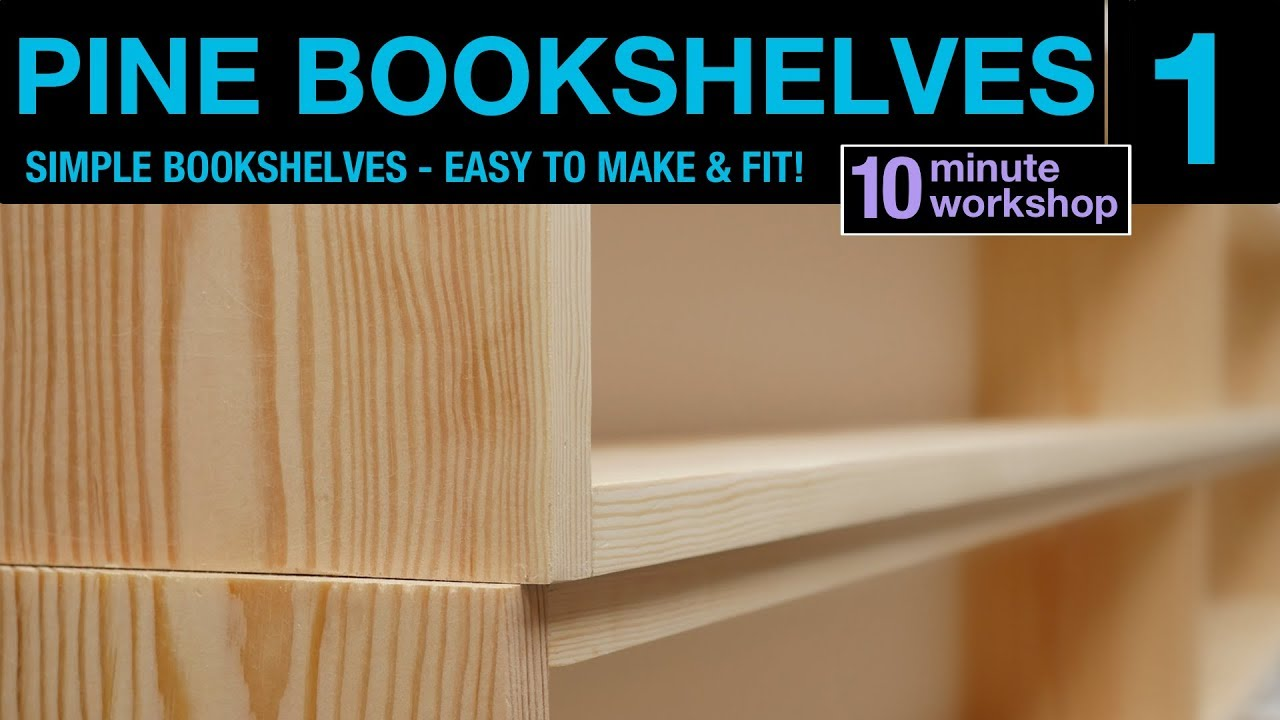 1 Of 2 Simple Pine Bookshelf 111
