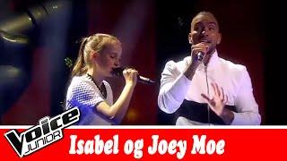 Isabel og Joey Moe synger   Joey Moe – 'Hvis det ik' skal være os' – Voice Junior   Finale