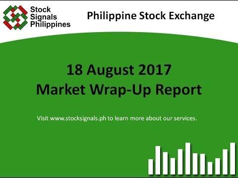 Market Wrap-Up Report - Philippine Stock Exchange - 18 August 2017