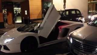 Super Cars outside Zuma Restaurant on Knightsbridge, London