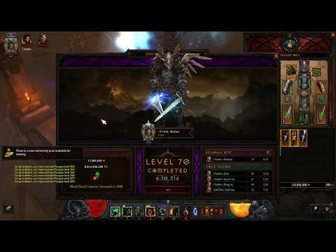 PC Diablo 3 Fire HOTA Barbarian GR 70 Solo Greater Rift Season 12 2017-11-14