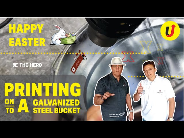 Printing onto a Galvanized Steel bucket and Low grade plastic| Best printing method of all time