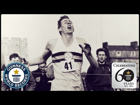 First Sub-Four Minute Mile - Sir Roger Bannister - Guinness World Records 60th Anniversary