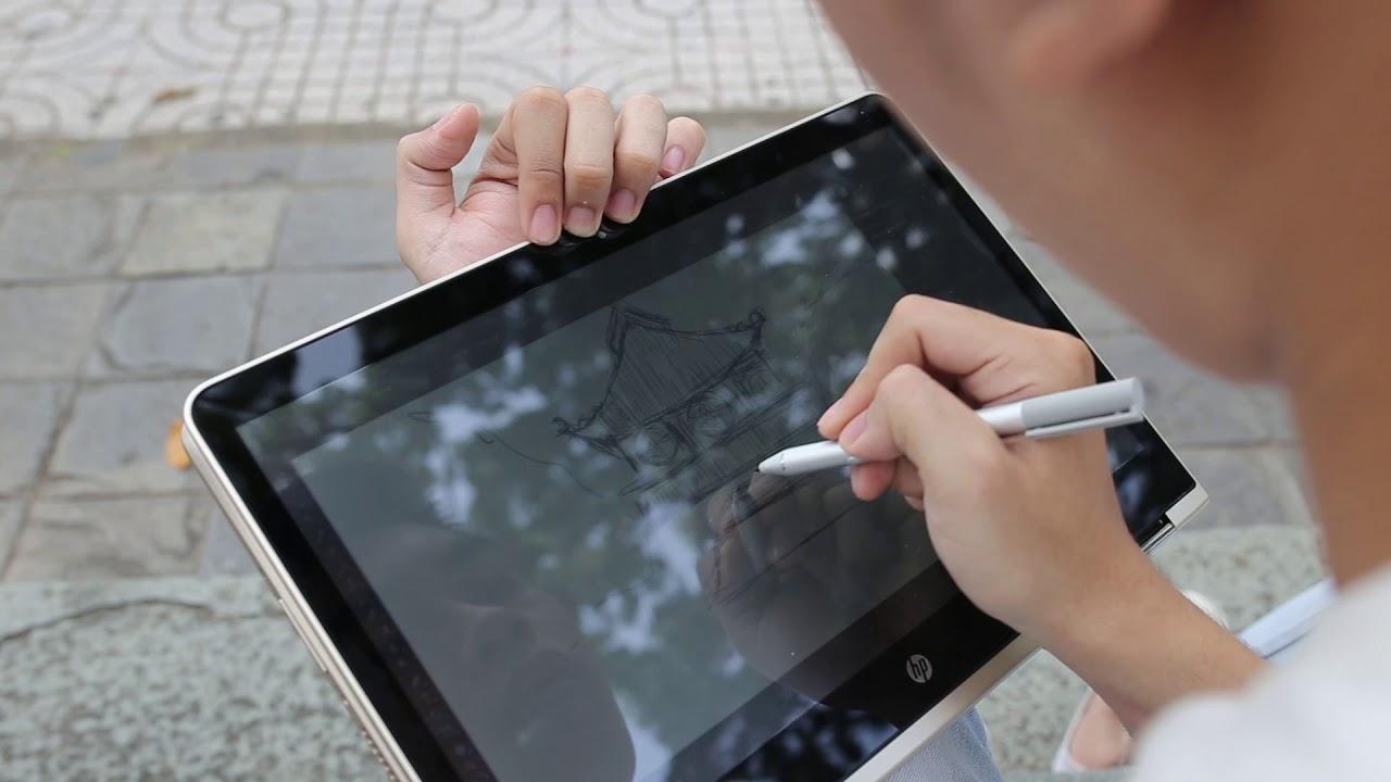 HP Pavilion x360 hỗ trợ bút bảm ứng | Vẽ tự nhiên với Windows Ink (1)