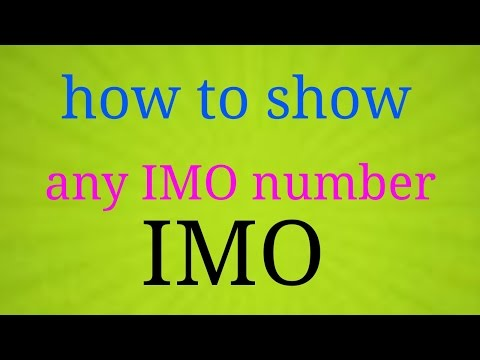 How to show IMO number