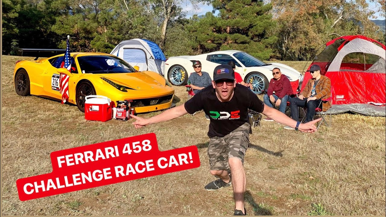 CAMPING IN A $200,000 FERRARI RACE CAR! *PARK RANGER KICKS US OUT!**
