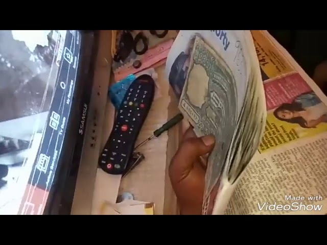 100 rs eagle note TV disturbed test.