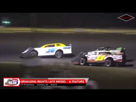 GOTRA/Late Model/Stock Car Features - US 30 Speedway - 9/28/18