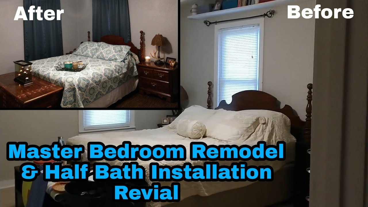 Master Bedroom Remodel Revial | Half Bath | Before & After | This ...