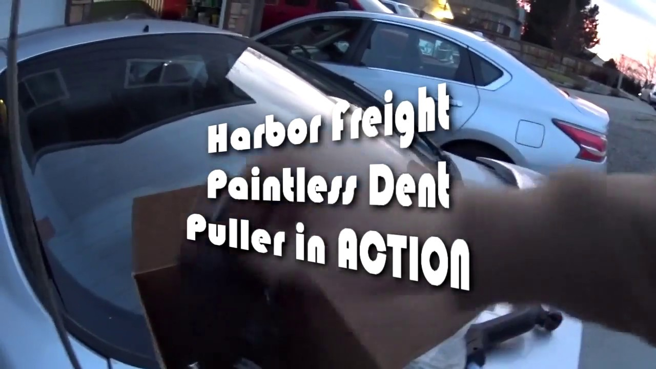 Paintless Dent Repair >> Harbor Freight Paintless dent removal tool - YouTube