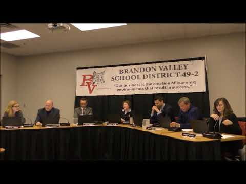 Brandon Valley School District School Board Meeting 2-26-18
