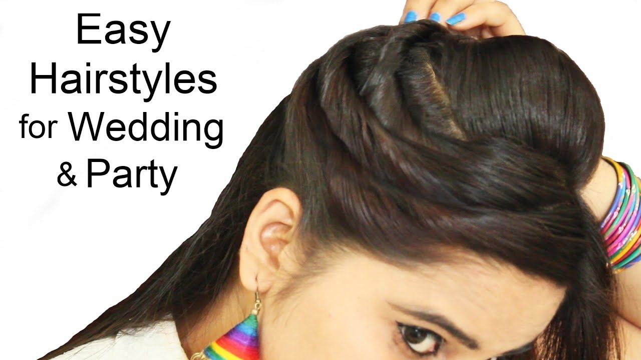 Easy Simple Hairstyle For Party Hairstyles Medium Or Long Hair Puff