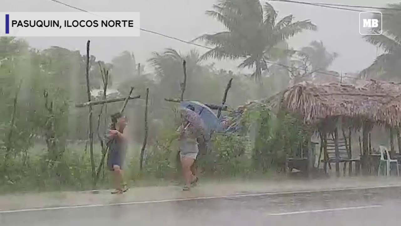 Heavy rains and strong winds at Ilocos Norte