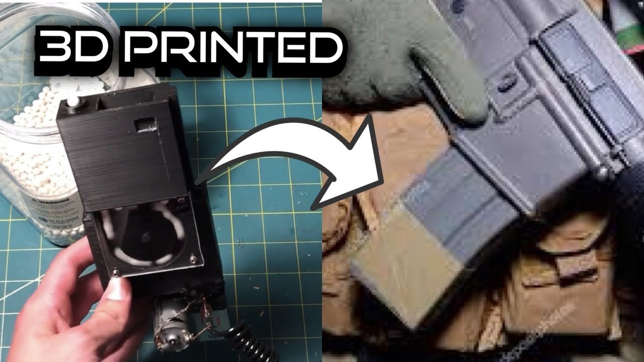3D printed airsoft magazine (self winding)
