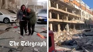 Like a war zone: Deadly blast in China leaves buildings in tatters