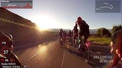 Cyclotour du Leman 2017 180km, 4h33' tour du lac, cycling, chute à Clarens