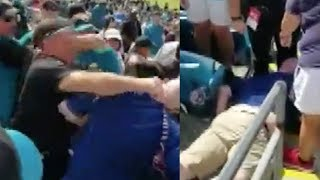 Fan KNOCKED OUT During INSANE Fight At Jaguars vs Texans Game!
