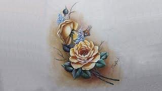 Rosas – Parte 1 – Pintura em tecido