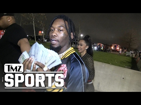 OFFSET FROM MIGOS - LOST $50K ON FALCONS...Rebounds With Hot Reality Star | TMZ Sports